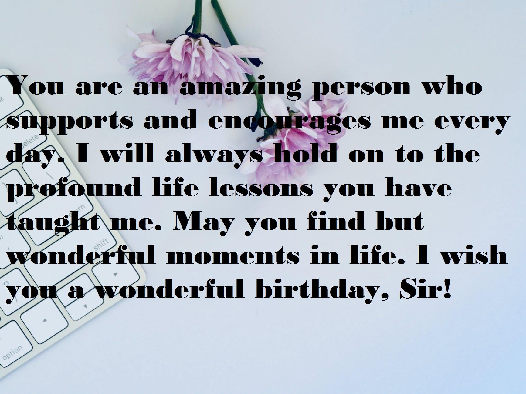 Birthday Wishes for Senior Sir