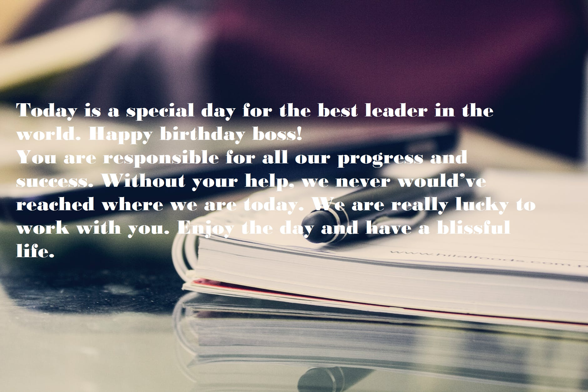 Birthday Wishes for Manager
