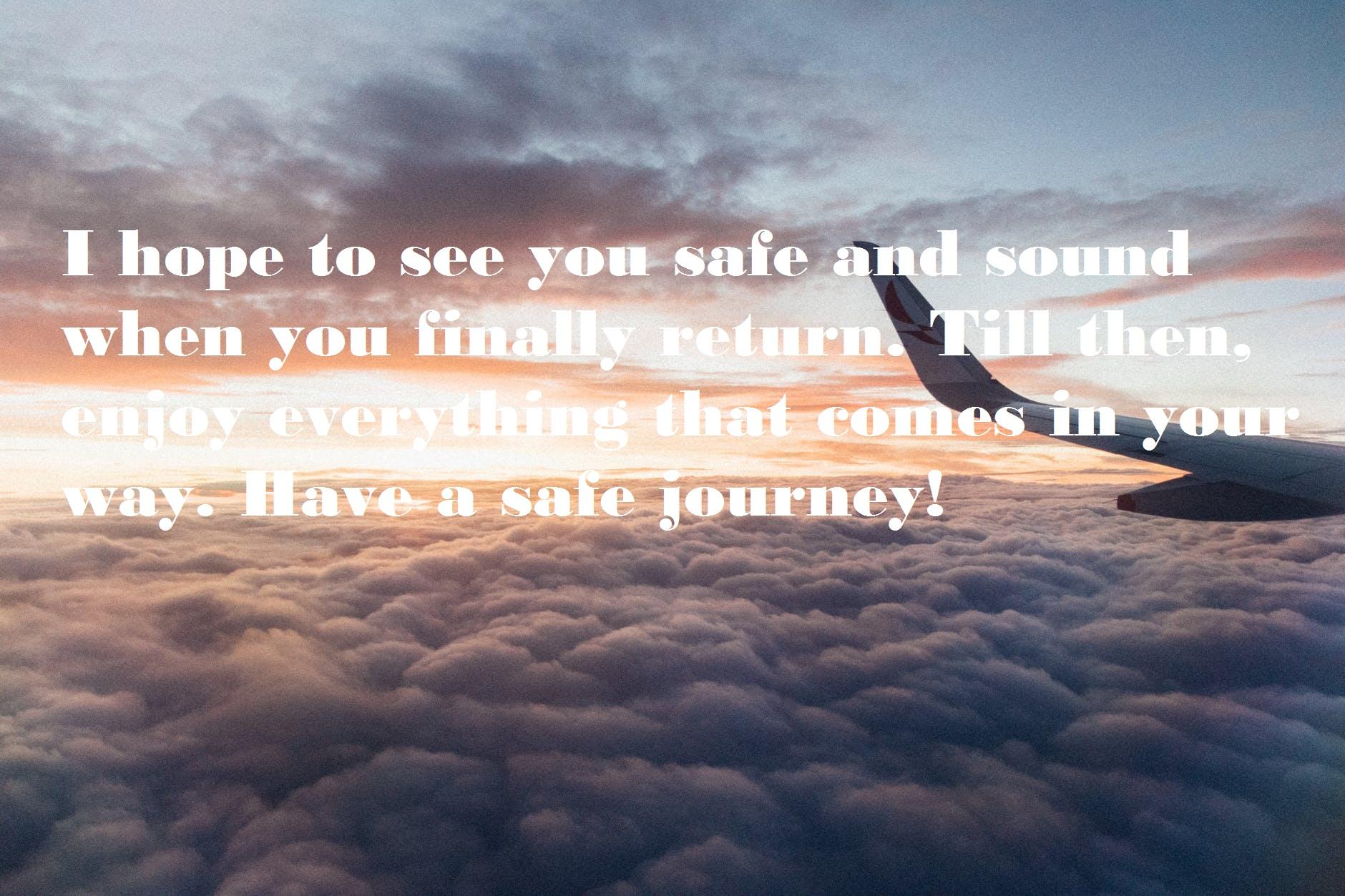 Safe Journey Wishes for Husband