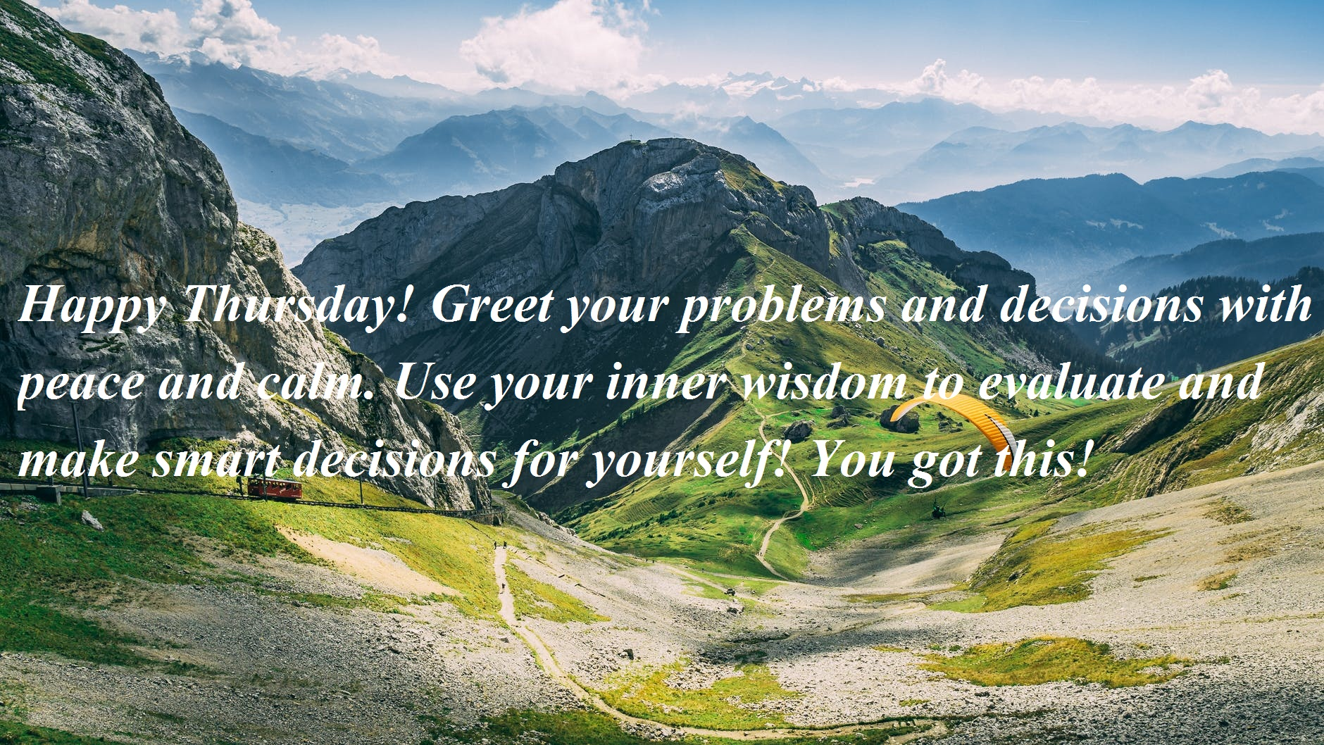Happy Thursday! Greet your problems and decisions with peace and calm. Use your inner wisdom to evaluate and make smart decisions for yourself! You got this!